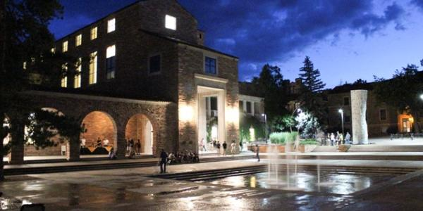 UMC outside at night