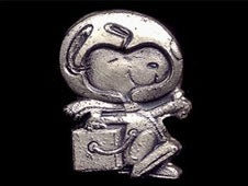 The Silver Snoopy Award medallion.