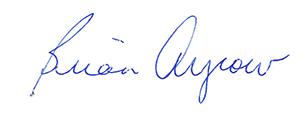 Brian Argrow signature