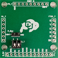 A printed circuitboard with a CU Boulder buffalo logo.
