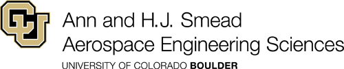 Ann and H.J. Smead Aerospace Engineering Sciences logo with black text.