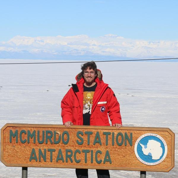 Ian Barry in Antarctica