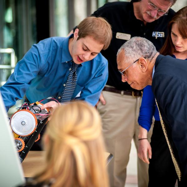 Ben Azlein discusses the DARE project with NASA Administrator Charles Bolden
