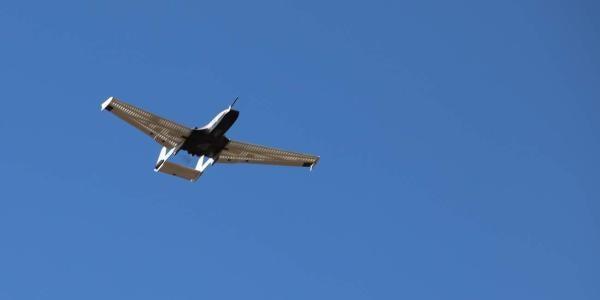 A UAV in the air.