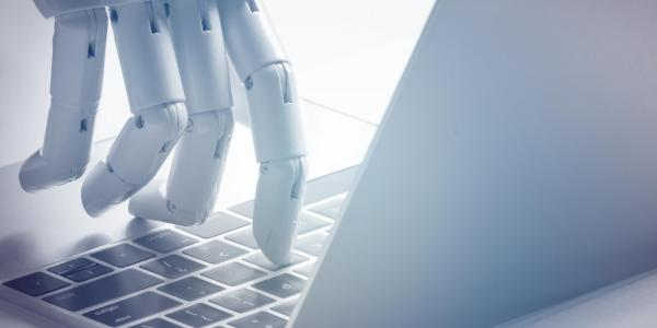 Rendering of a robot using a keyboard.