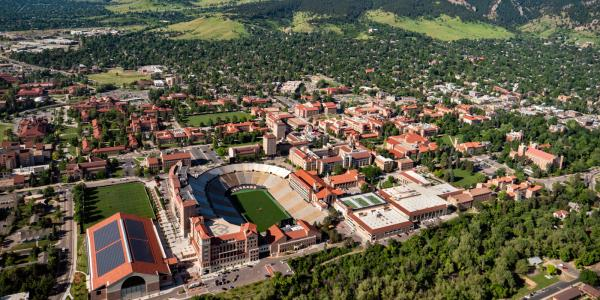 Campus aerial photo.