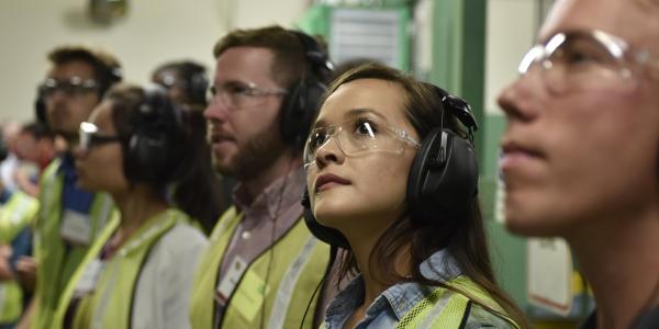 Students visiting Ball Aerospace