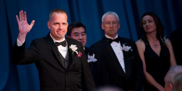 Schaub at the AIAA Gala.