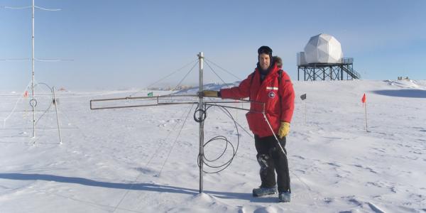 Professor Scott Palo in Antarctica