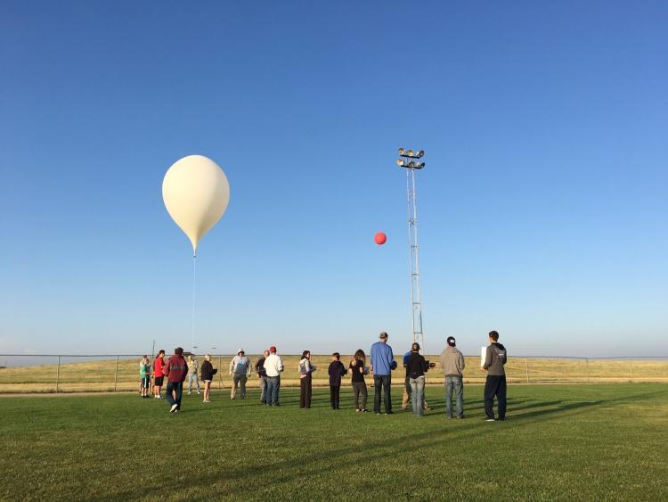 A previous balloon launch