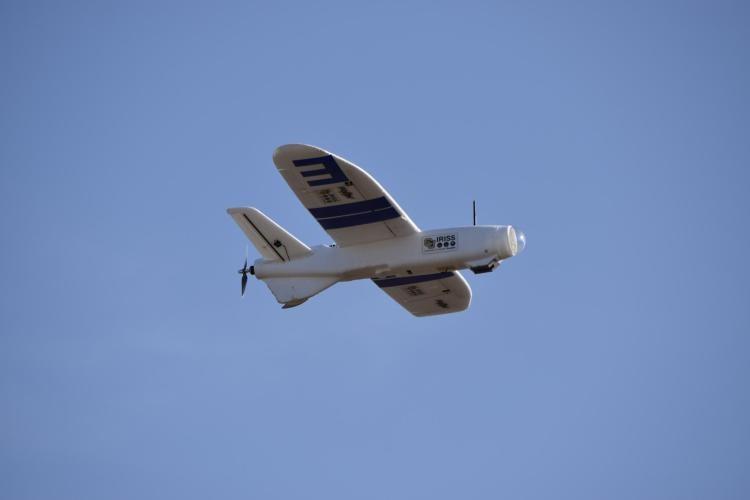 A UAV mid-flight.