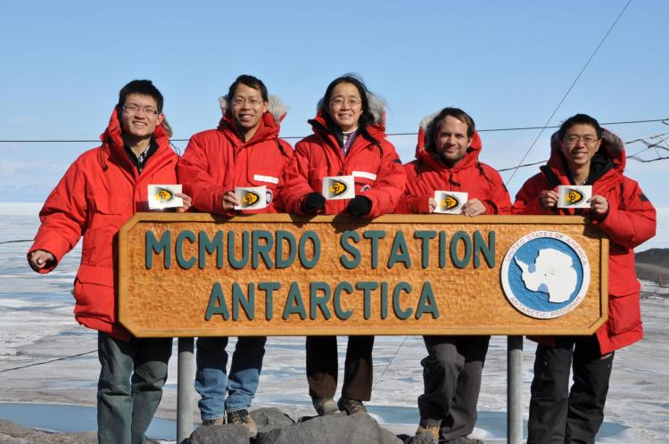 Xinzhao Chu with a group of students in Antarctica.