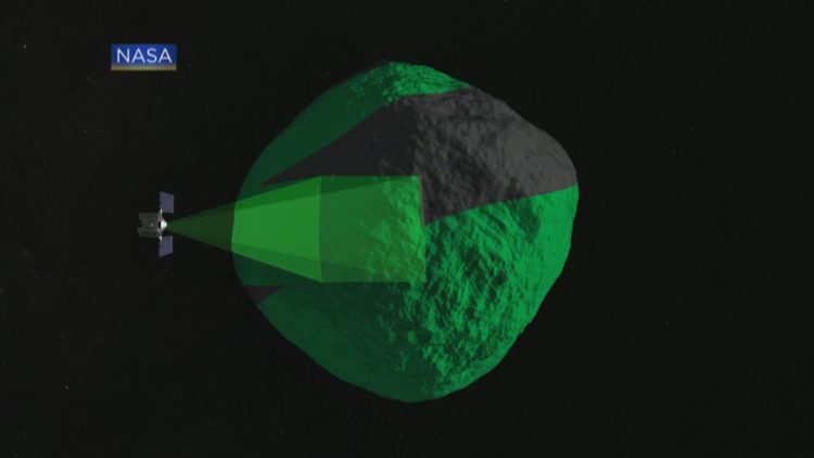 Asteroid imager rendering