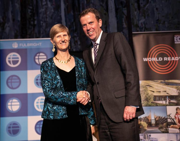 Kristine Larson in Canberra, Australia as part of her 2020 Fulbright Fellowship.