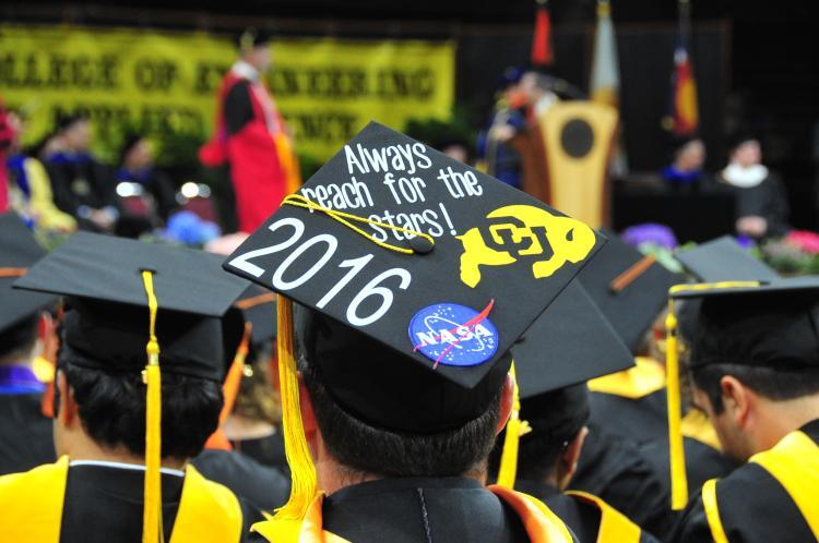 A graduation cap from 2016.