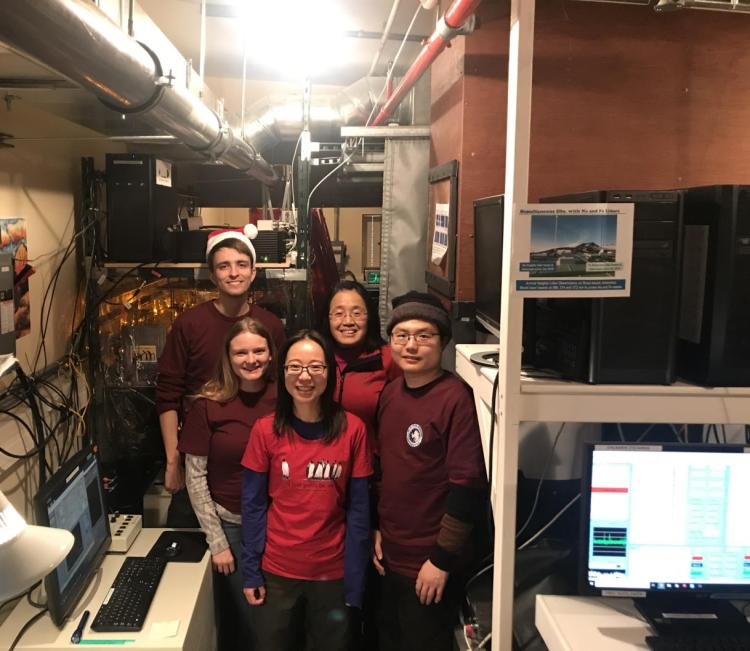 LIDAR team in the lab.