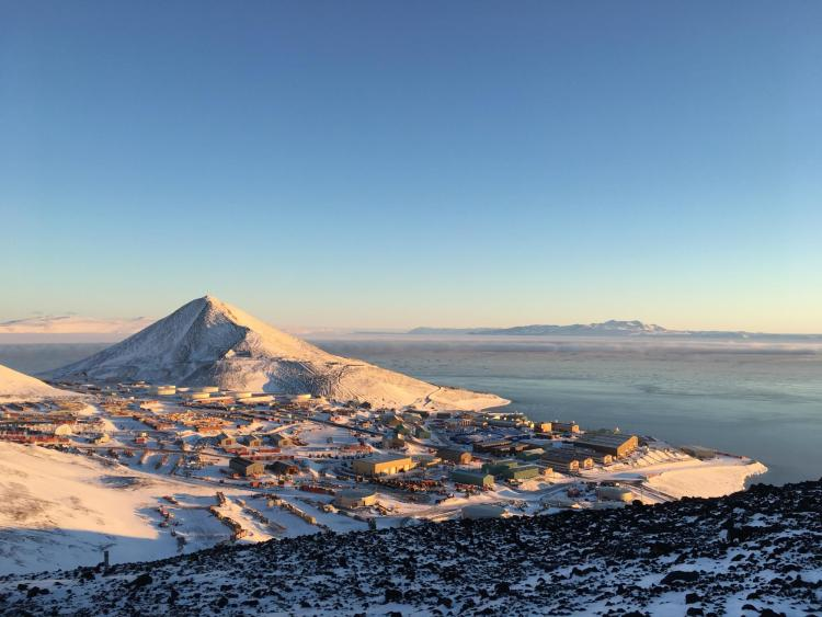 McMurdo Station during the day.