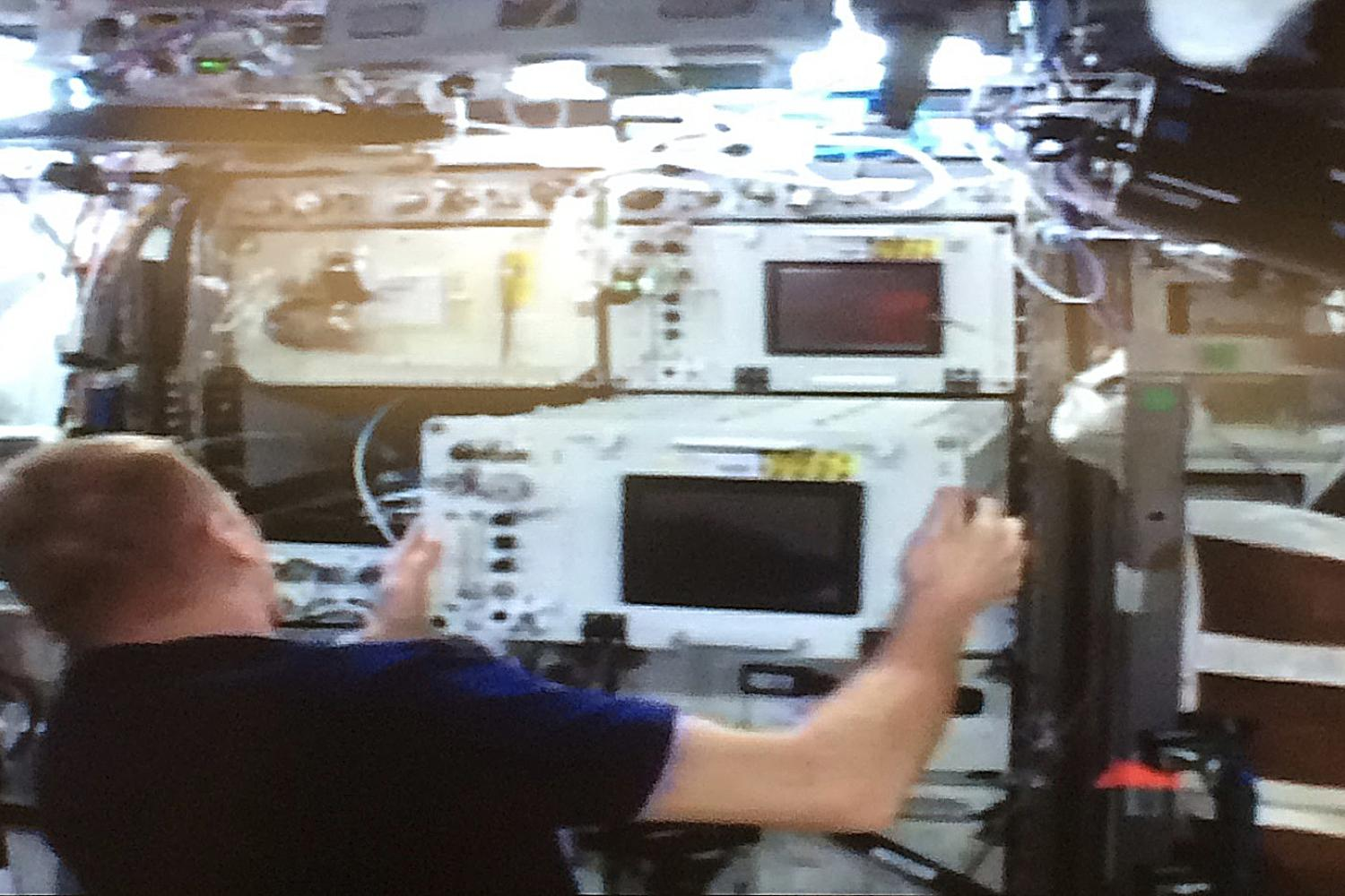 SABL being installed on the International Space Station