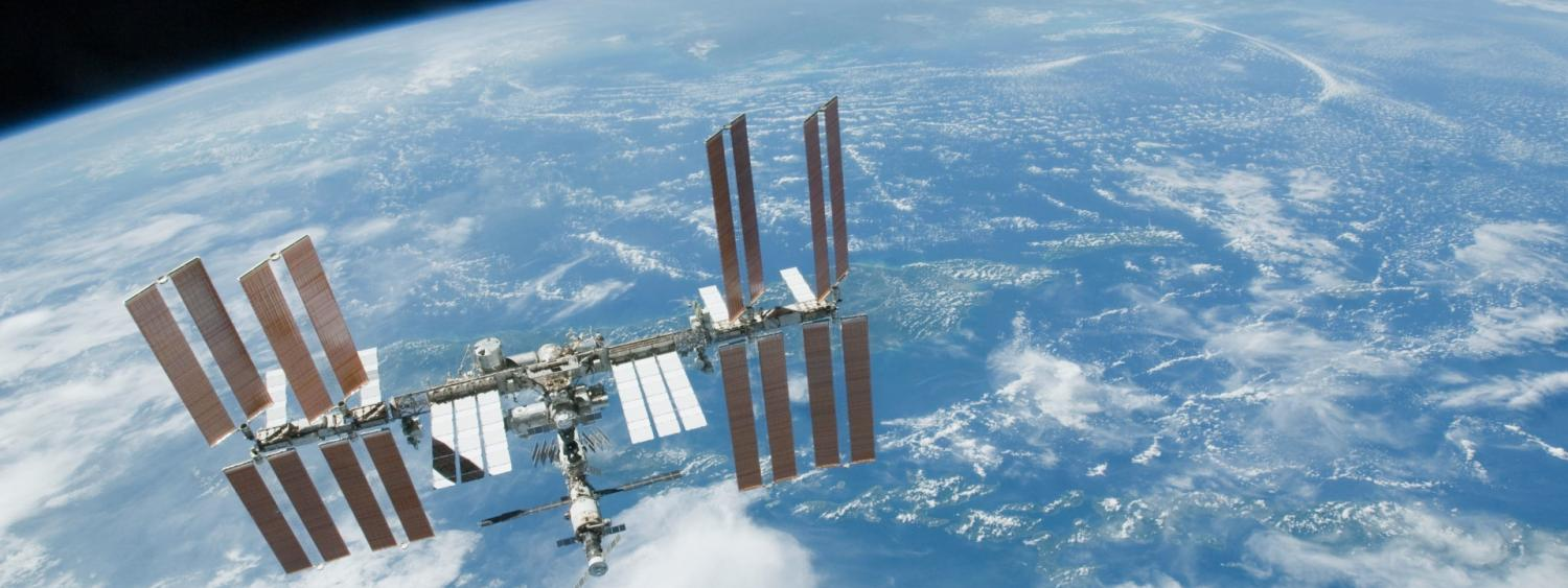 ISS in space.