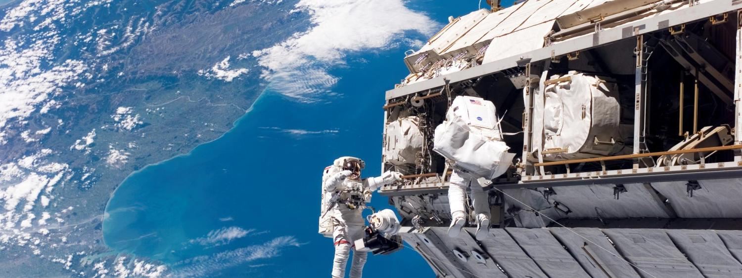 Spacewalking astronauts