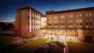 Aerospace building north exterior rendering