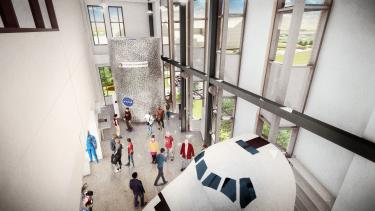 Aerospace building bioastronautics lab rendering