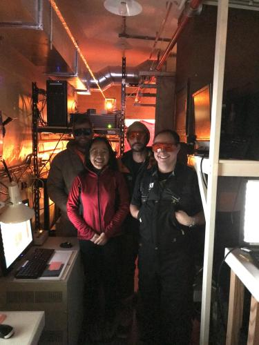 International scientists at the Arrival Heights Observatory in Antarctica