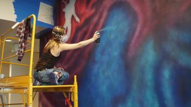 Ellie Marcotte painting.