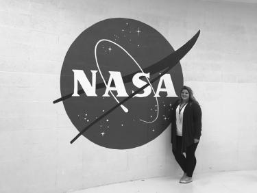 Katie Bretl at Johnson Space Center