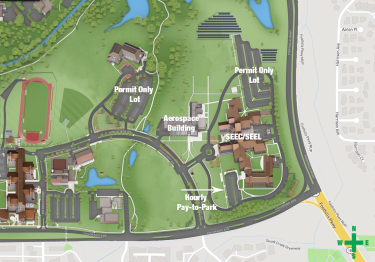Map showing parking.