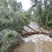 Flood damage.