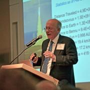 Dan Scheeres giving a presentation.