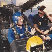 Hunter with the Blue Angels.