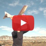 Bobby Hodgkinson launching a glider.