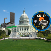 The US Capitol and a CAD drawing of CU-E3.
