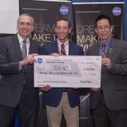Ben Fried at the NASA check presentation.