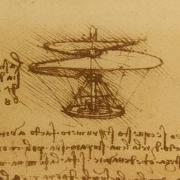 Leonardo DaVinci helicopter drawing