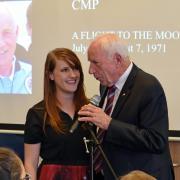 Christine Reilly with astronaut Al Worden