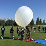 Readying a balloon launch.