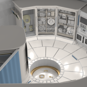 A space station rendering