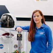 Heather Hava in the Bioastronautics lab.