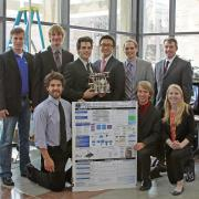Senior Design Students with their Project.