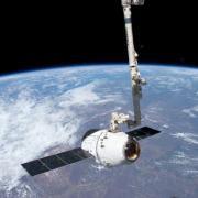 SpaceX Capsule in space.