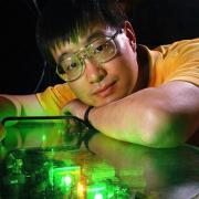 Jun Ye in his lab at JILA.