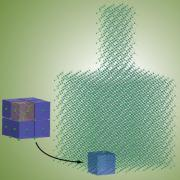 A 3D rendering of a nanoscale structure