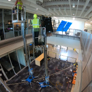 The satellite being installed.