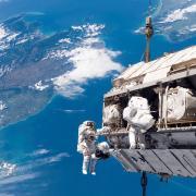 Spacewalking astronauts