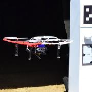 A quadcopter drone flies into an entrance of Edgar mine.