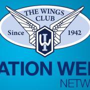 Wings Club and Aviation Week logos.