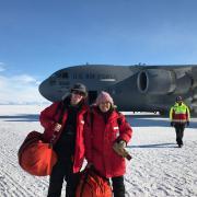 Xinzhao Chu in Antarctica.